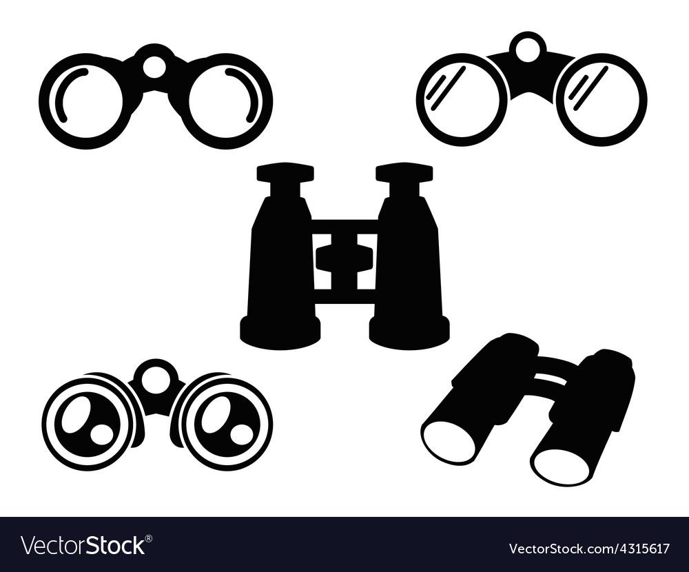 Binocular icon symbol set vector | Price: 1 Credit (USD $1)