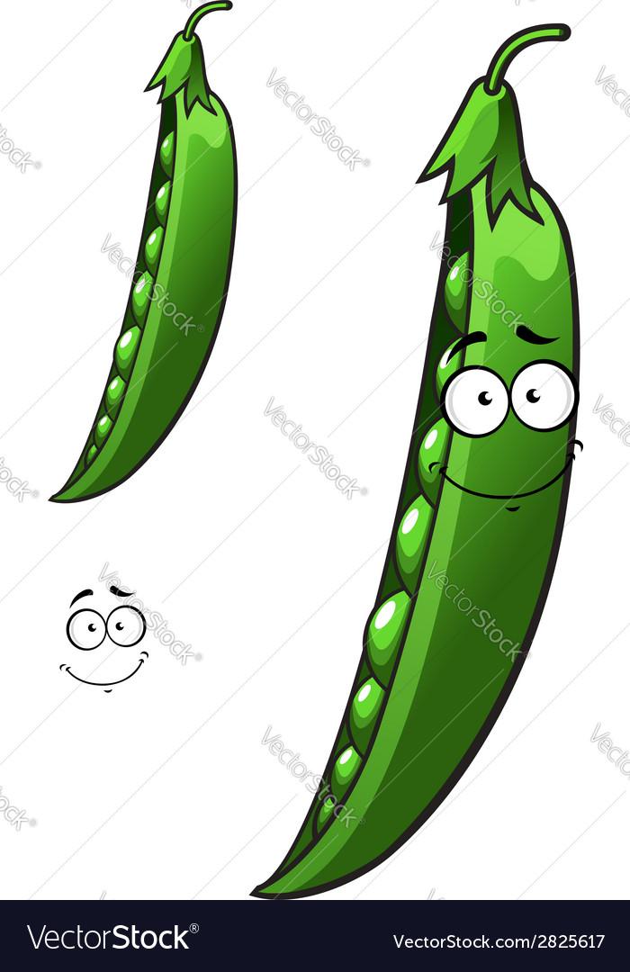 Cartoon pea vegetable vector | Price: 1 Credit (USD $1)