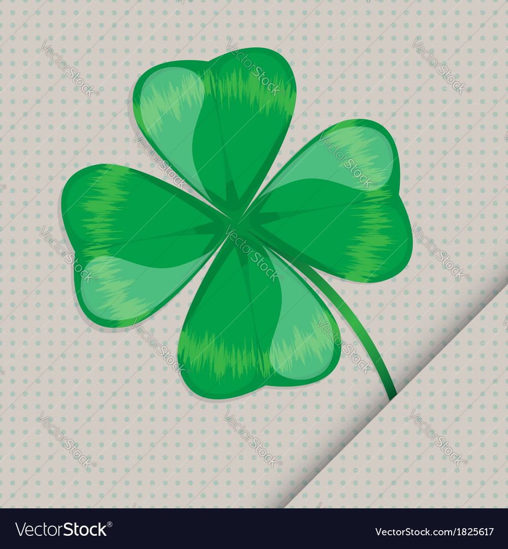 Clover leaf on the paper vector | Price: 1 Credit (USD $1)