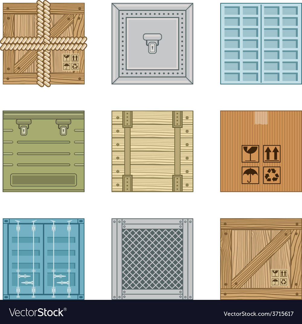Collection various boxes vector | Price: 1 Credit (USD $1)