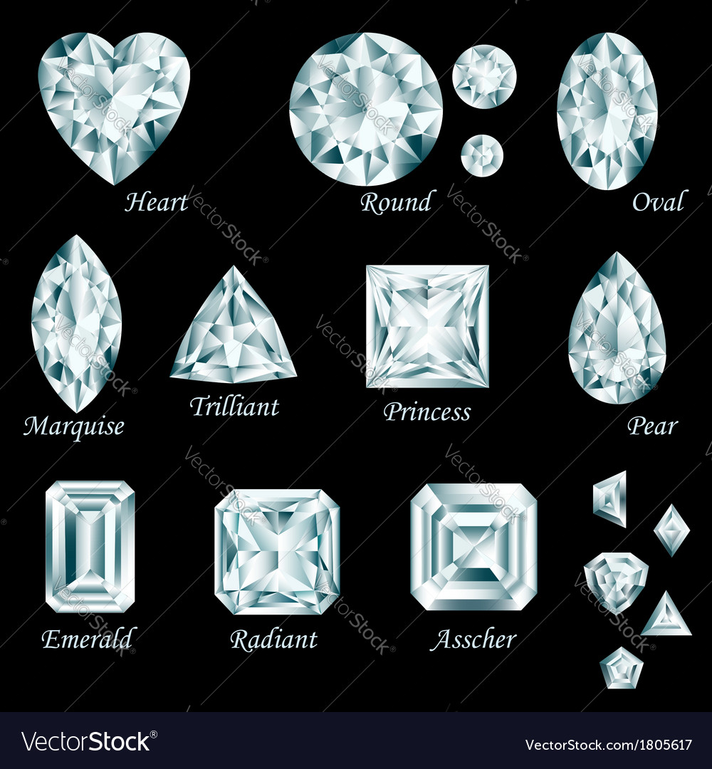Diamond cut set vector | Price: 1 Credit (USD $1)