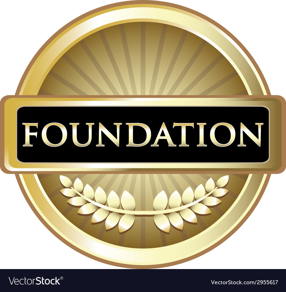 Foundation gold emblem vector | Price: 1 Credit (USD $1)