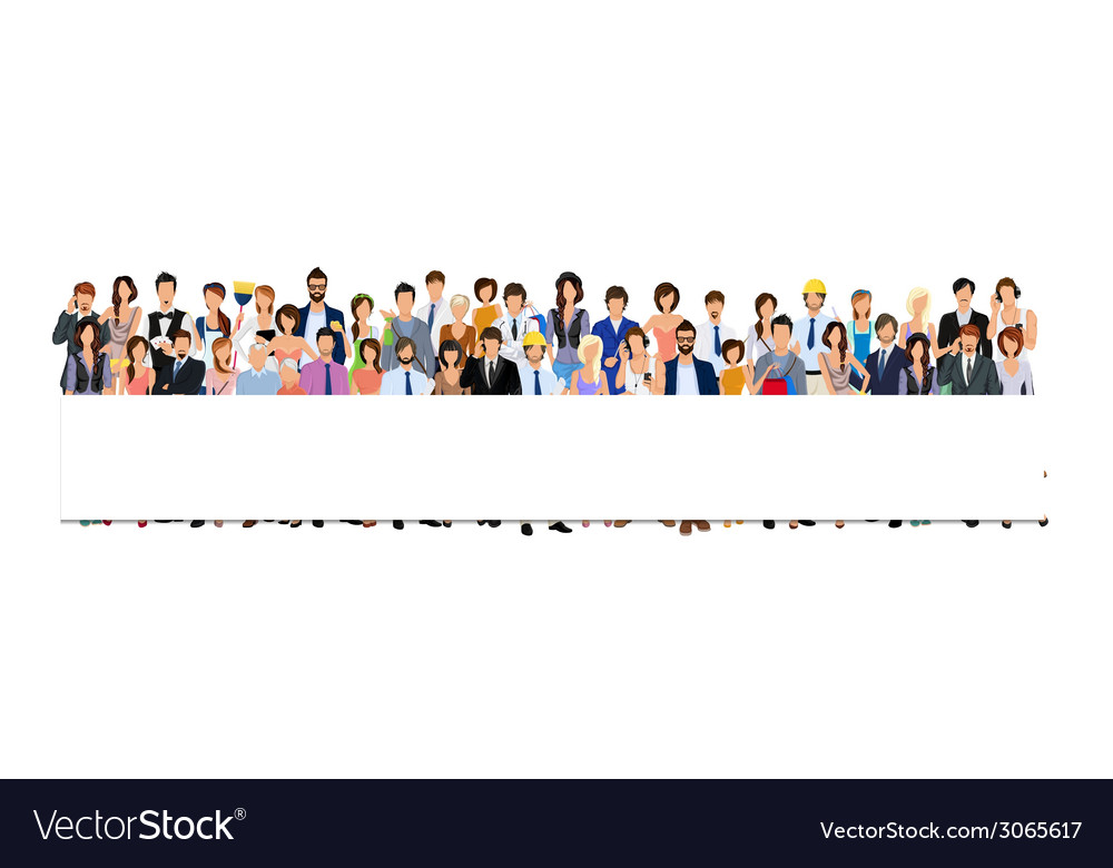 Group people banner vector | Price: 1 Credit (USD $1)