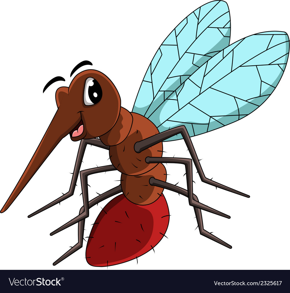 Mosquito cartoon vector | Price: 1 Credit (USD $1)