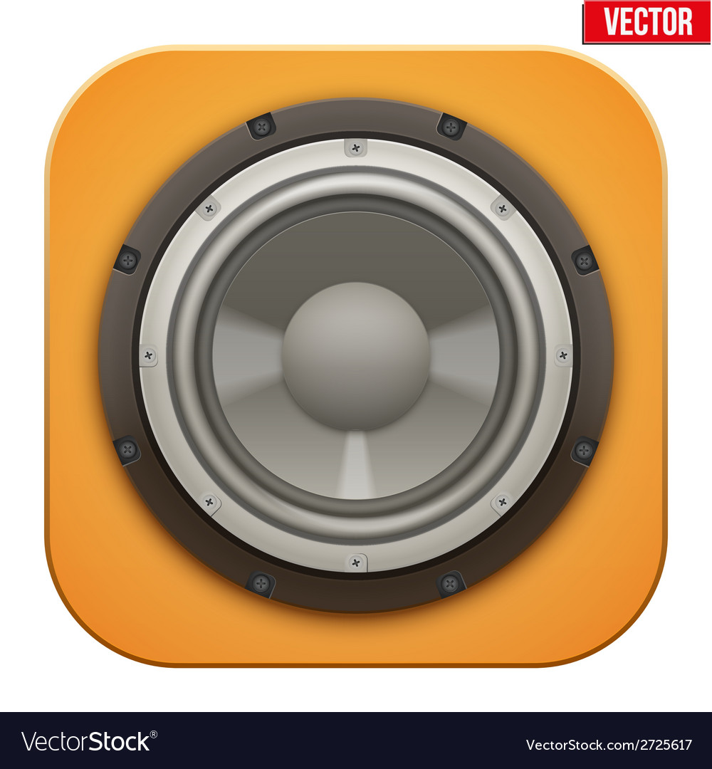 Realistic sound load speaker icon vector | Price: 1 Credit (USD $1)