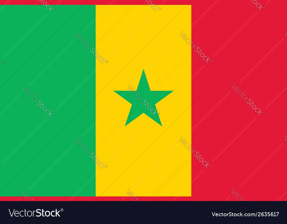 Senegal flag vector | Price: 1 Credit (USD $1)