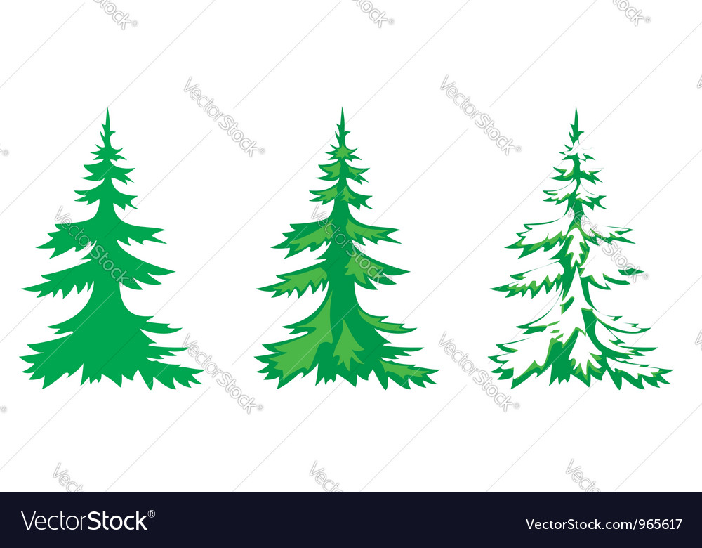 Set of 3 fir-trees vector | Price: 1 Credit (USD $1)
