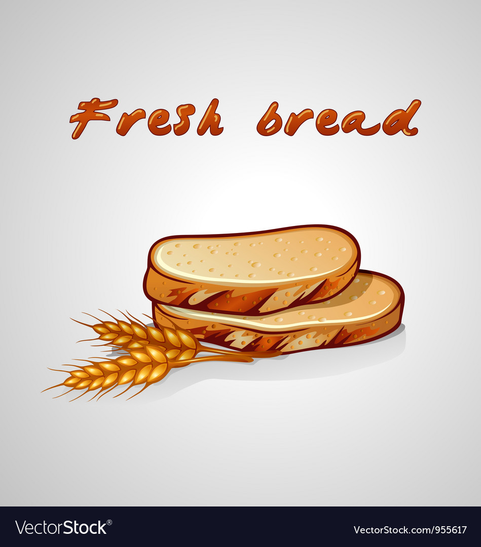 Slice of bread and rye grain vector | Price: 1 Credit (USD $1)