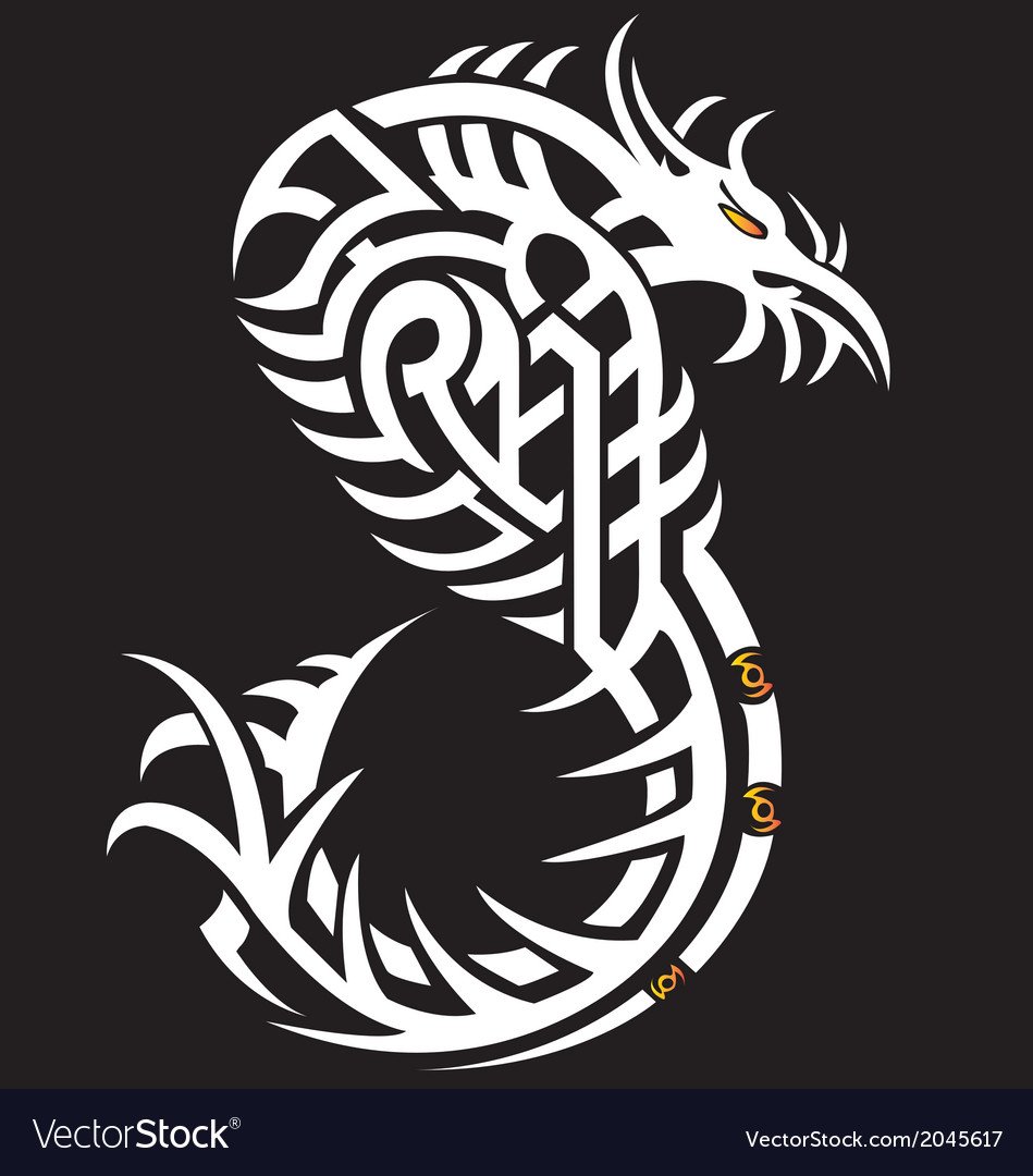 Snake cobra girl in the form of a tribal tattoo vector   Price: 1 Credit (USD $1)