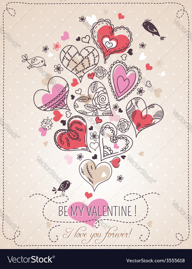 Background with valentine heart vector   Price: 1 Credit (USD $1)
