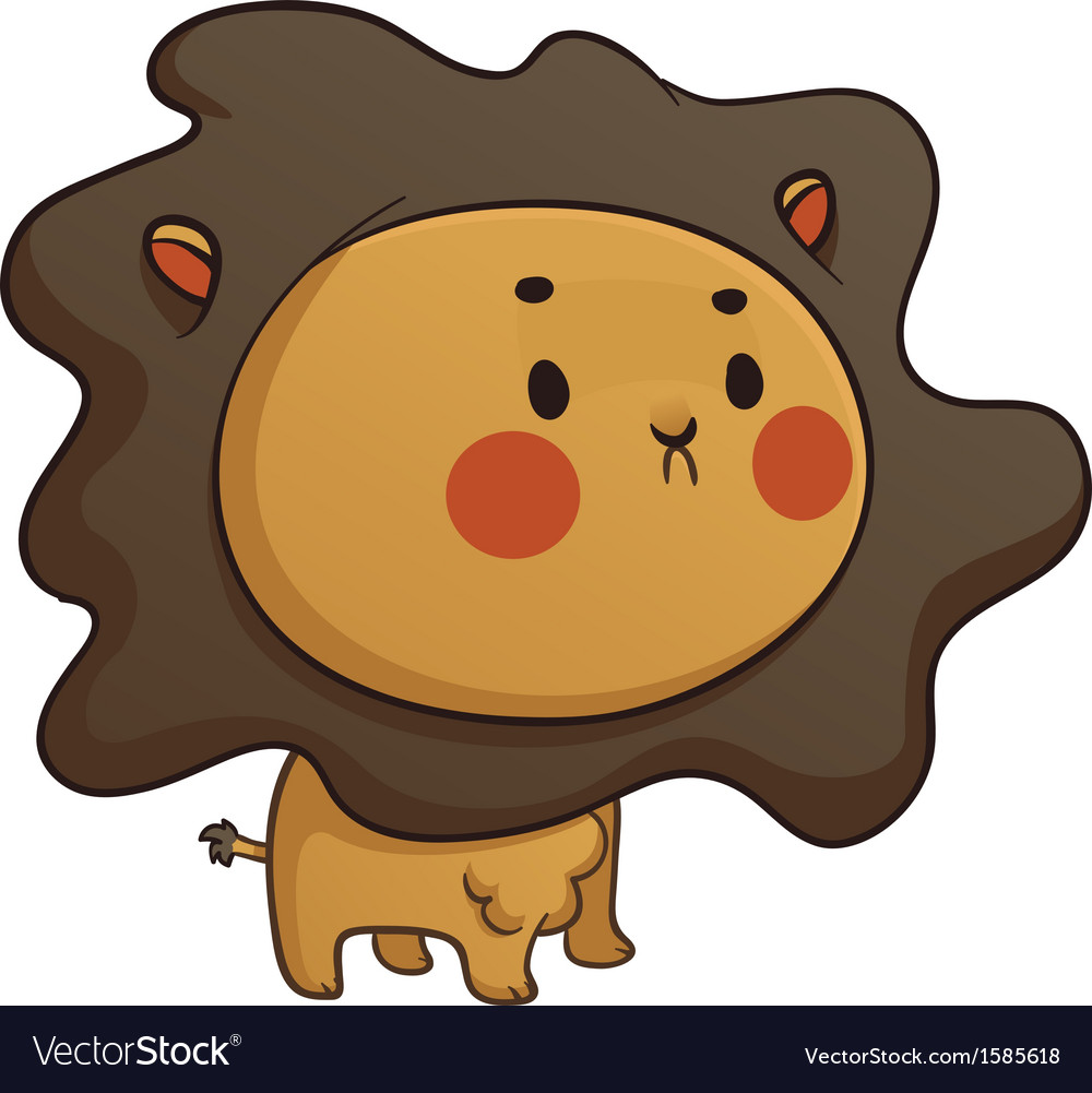 Cute baby lion vector | Price: 1 Credit (USD $1)