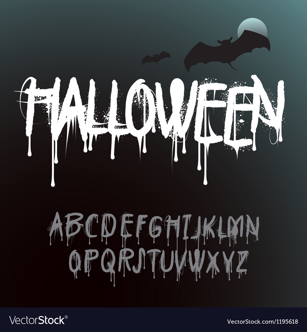 Halloween splash alphabet vector | Price: 1 Credit (USD $1)