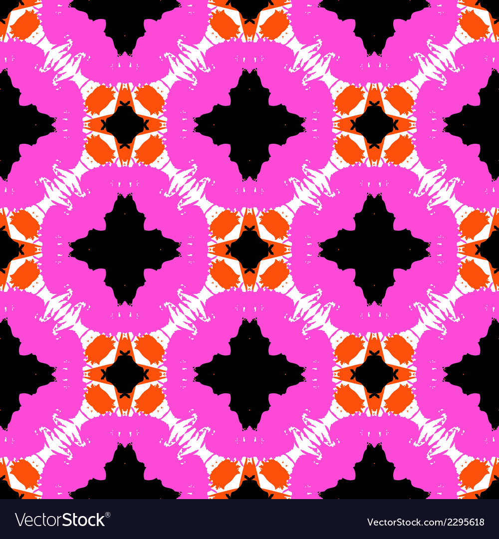 Hand painted pattern with bold ethnic motifs vector | Price: 1 Credit (USD $1)