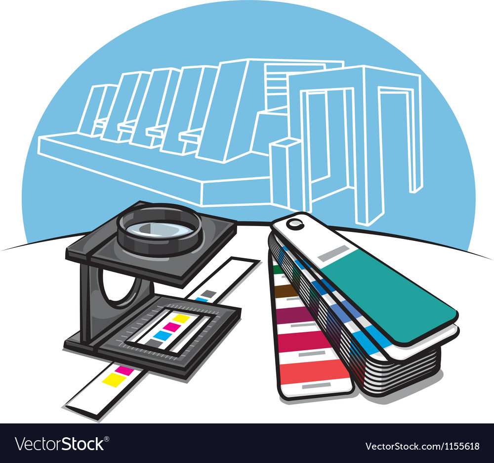 Print shop tools vector | Price: 3 Credit (USD $3)