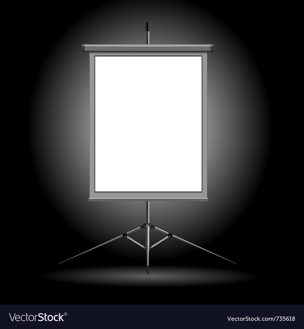 Projection stand vector | Price: 1 Credit (USD $1)