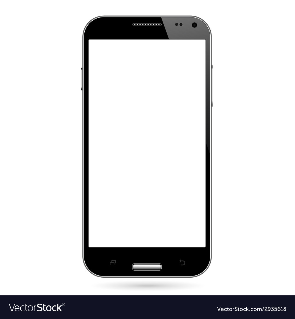Realistic smart phone vector | Price: 1 Credit (USD $1)