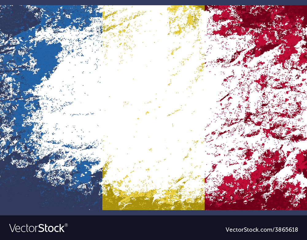 Romanian flag grunge background vector   Price: 1 Credit (USD $1)