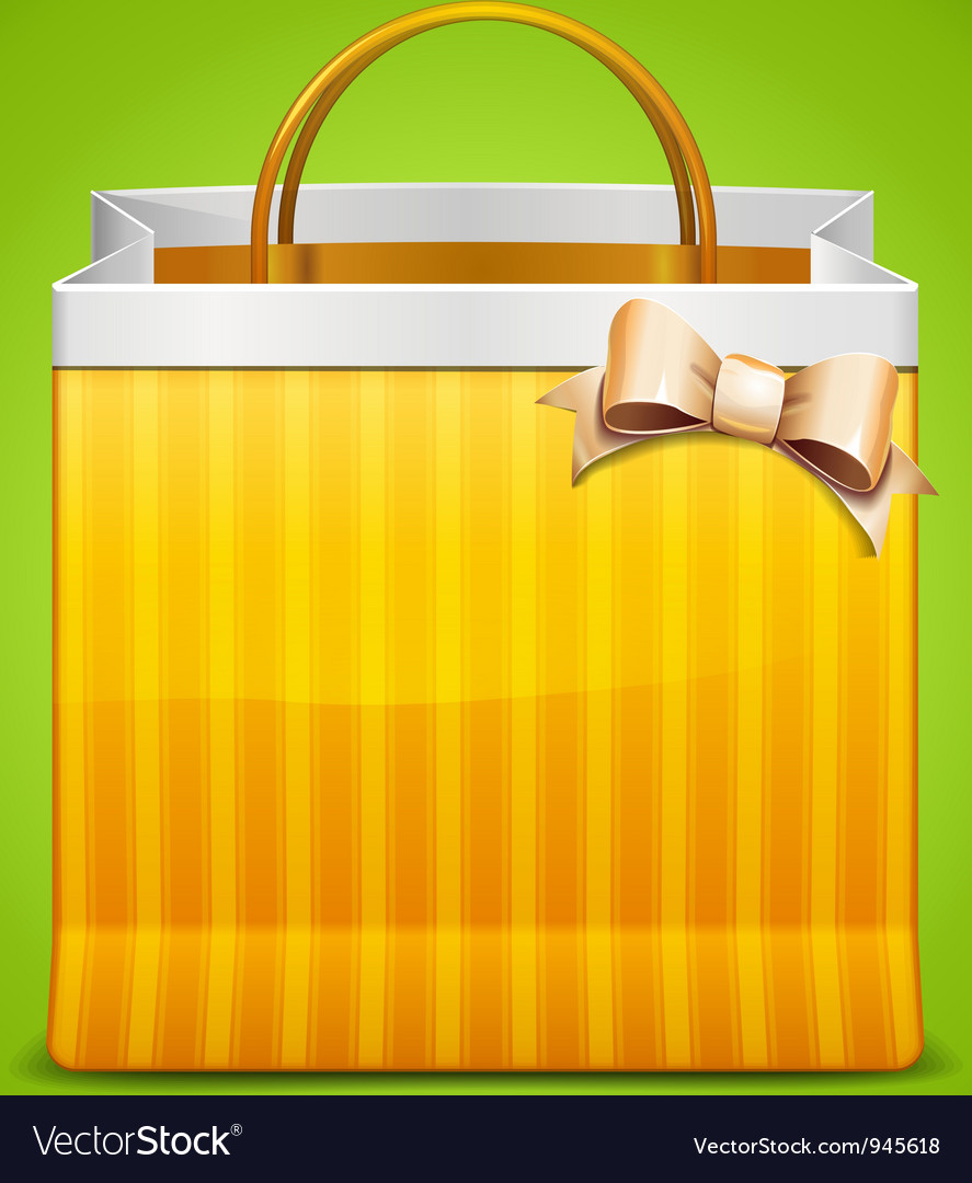 Shopping bag icon with bow vector | Price: 3 Credit (USD $3)