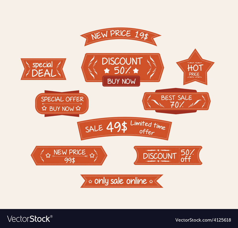 Sticker label vector | Price: 1 Credit (USD $1)