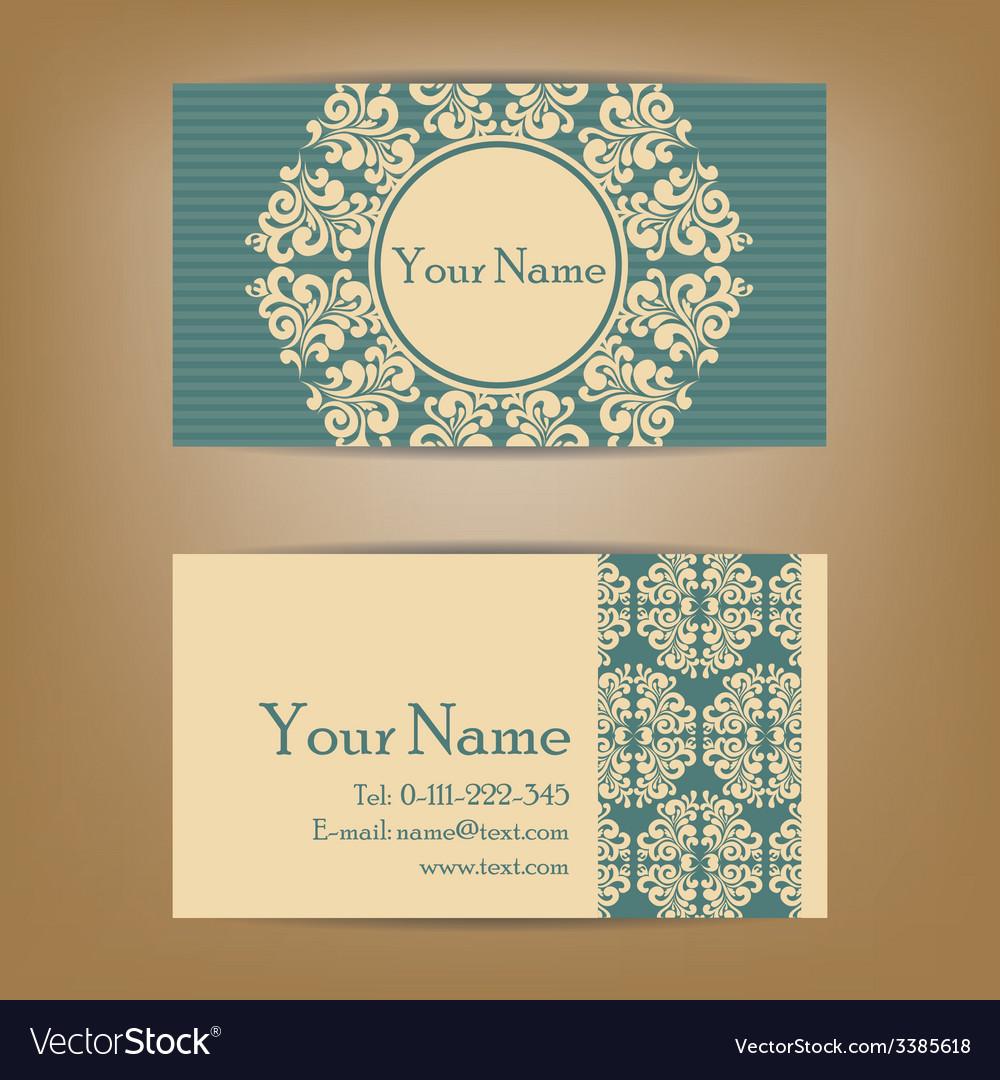 Vizit cards dark blue vector | Price: 1 Credit (USD $1)