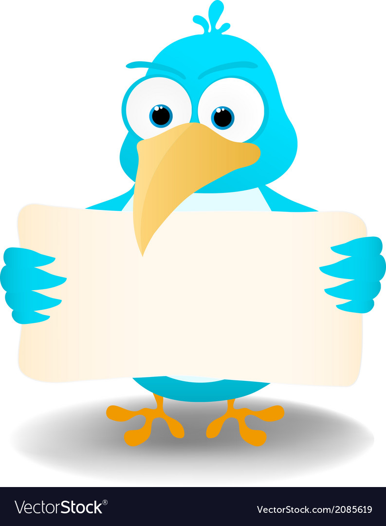Bird with a blank banner vector   Price: 1 Credit (USD $1)