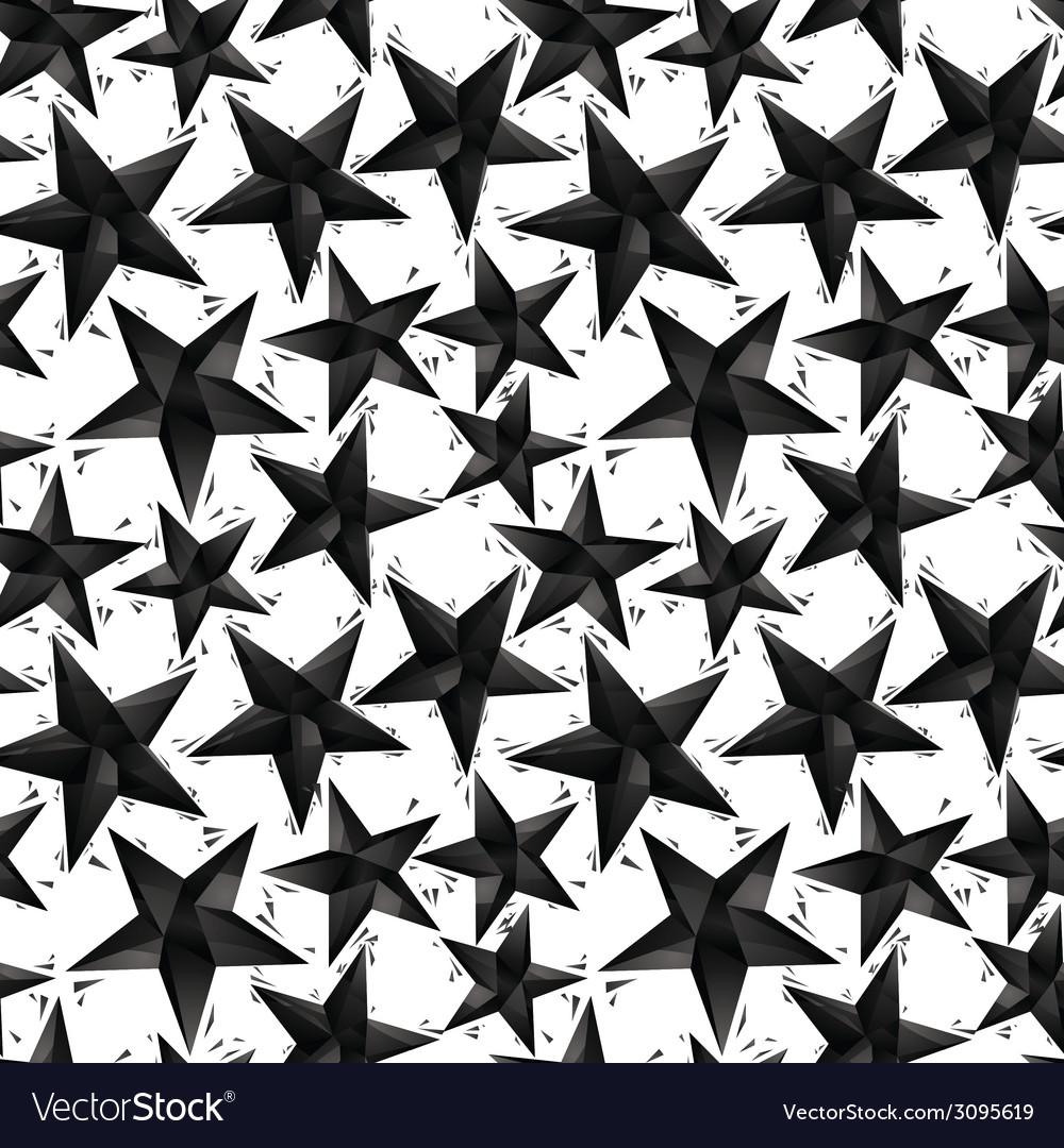 Black stars seamless pattern geometric vector | Price: 1 Credit (USD $1)