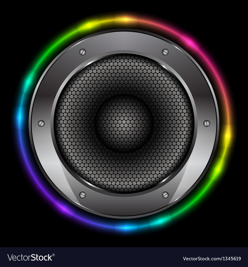 Colorful background with sound speaker vector | Price: 1 Credit (USD $1)