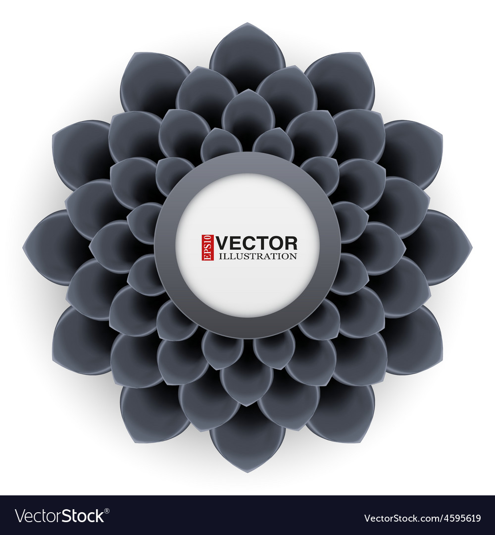 Greeting card or background with black flower vector | Price: 3 Credit (USD $3)
