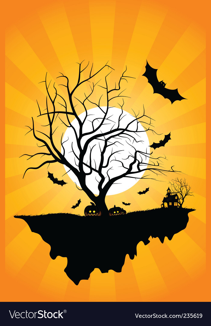 Halloween night vector | Price: 1 Credit (USD $1)