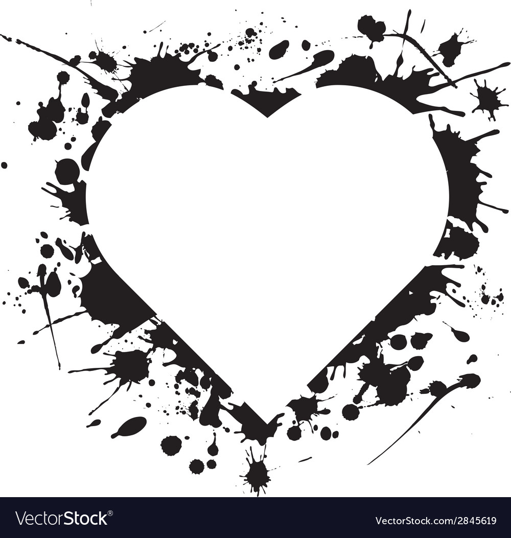 Ink heart vector | Price: 1 Credit (USD $1)