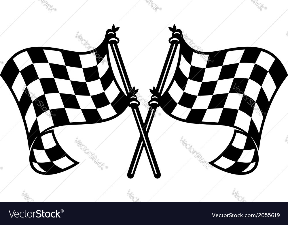 Motor sports flags curling in the breeze vector | Price: 1 Credit (USD $1)
