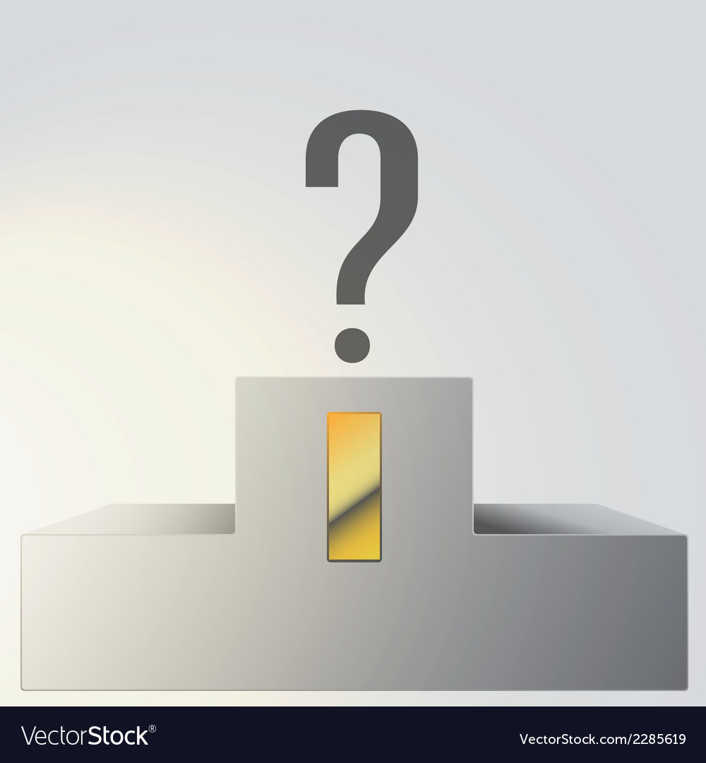 Podium with question mark vector | Price: 1 Credit (USD $1)