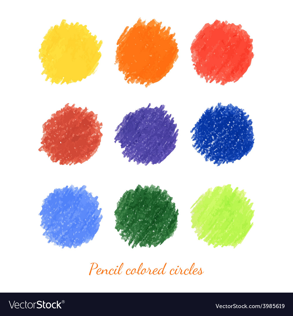 Set of colorful dots vector | Price: 1 Credit (USD $1)
