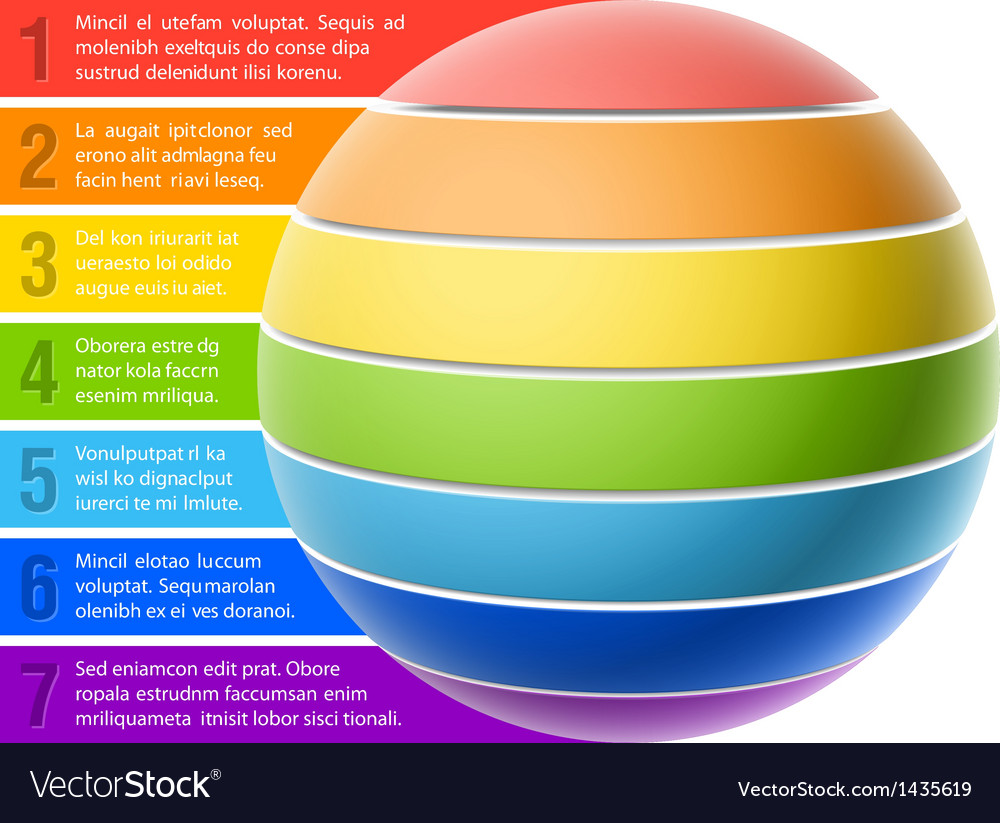 Sphere chart vector | Price: 1 Credit (USD $1)