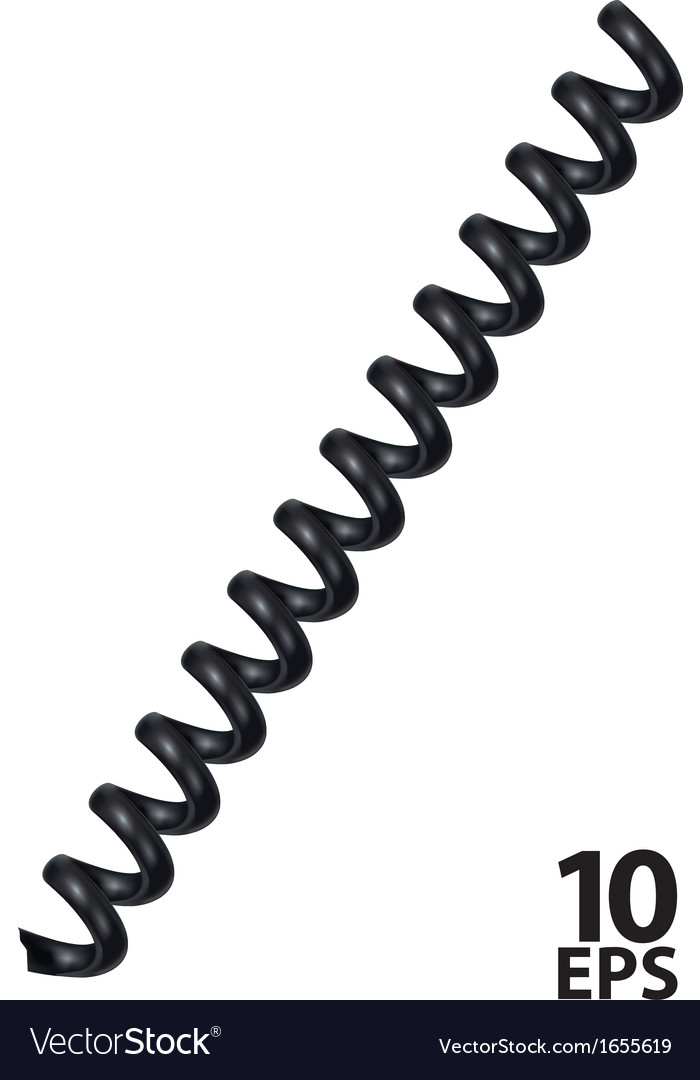 Spiral telephone cable vector | Price: 1 Credit (USD $1)