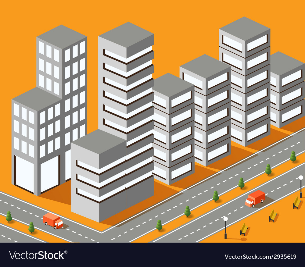 Town structure vector | Price: 1 Credit (USD $1)
