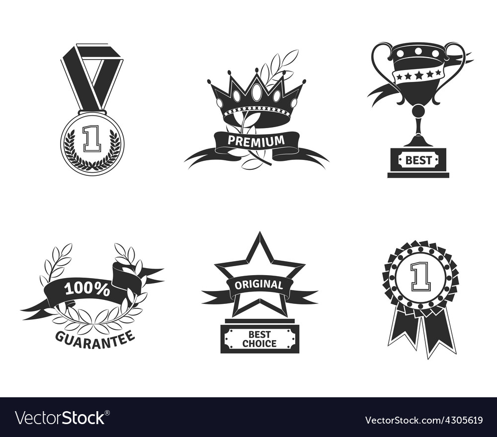 Trophy and prize emblem vector | Price: 1 Credit (USD $1)