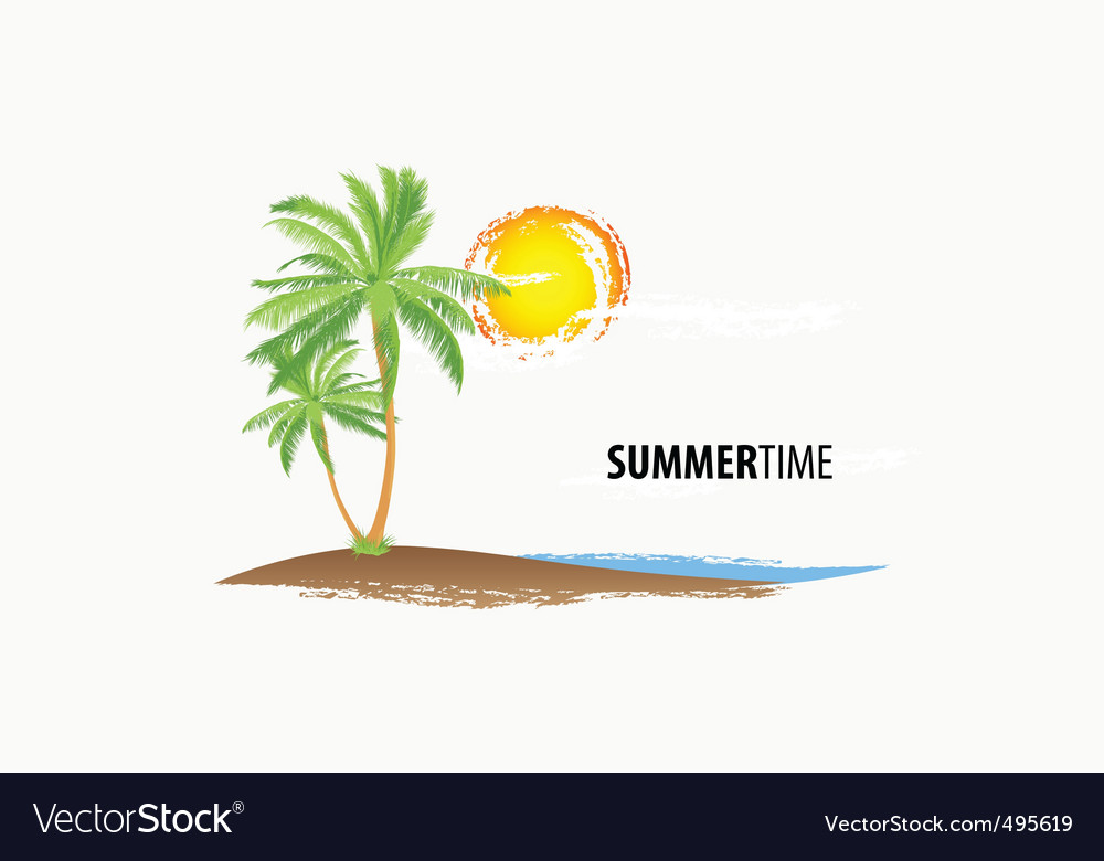 Tropical palm vector | Price: 1 Credit (USD $1)