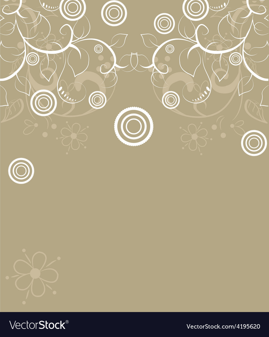 Abstract background design with flowers vector | Price: 1 Credit (USD $1)