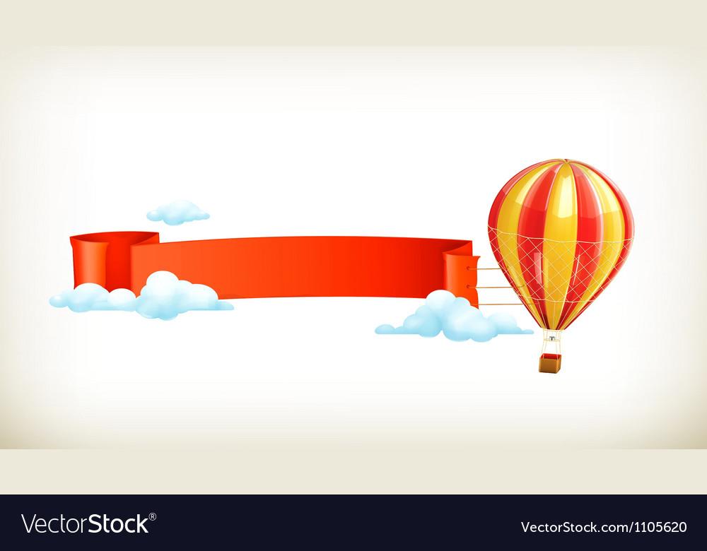 Air balloon banner vector | Price: 1 Credit (USD $1)