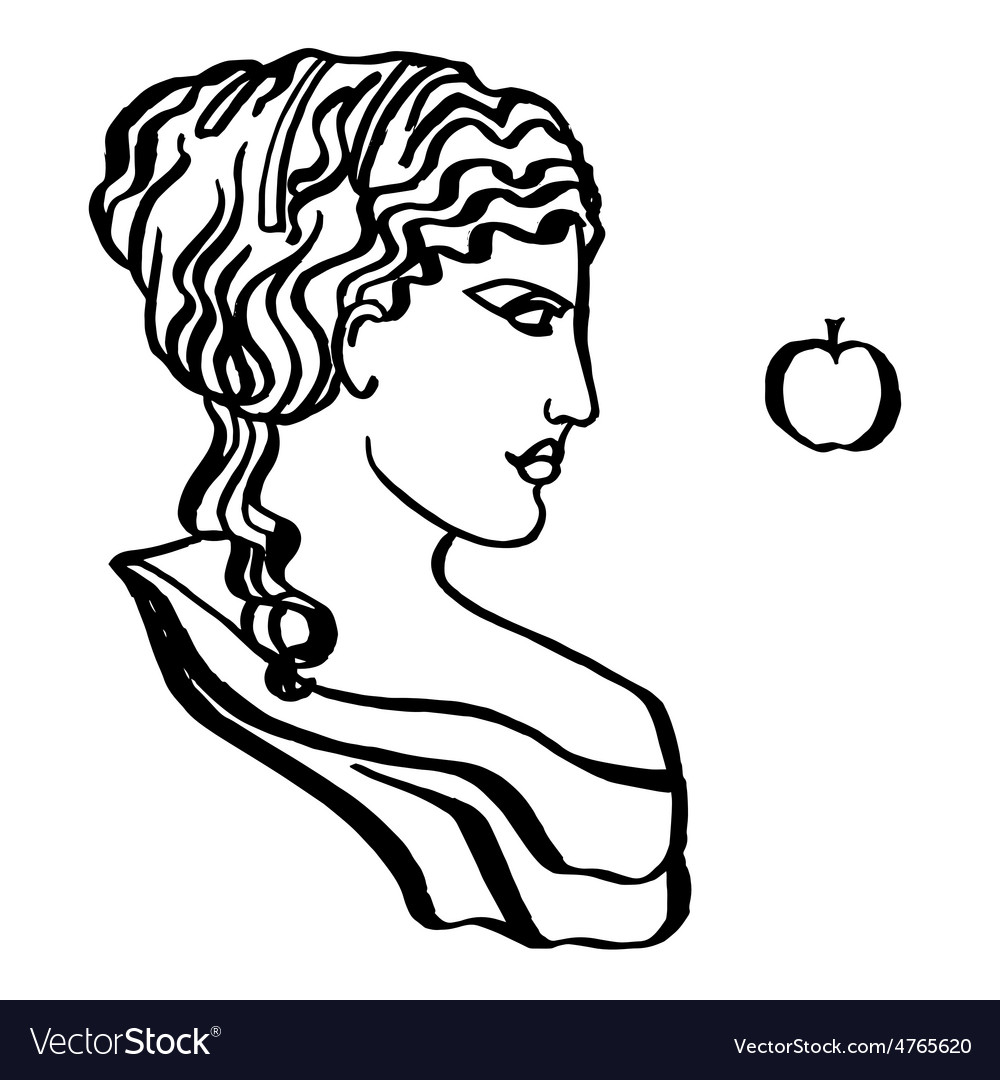 Ancient greek goddess vector | Price: 1 Credit (USD $1)