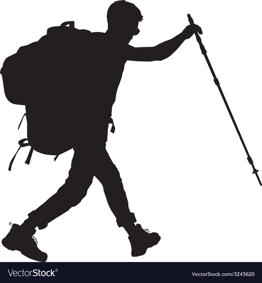 Backpacker vector | Price: 1 Credit (USD $1)