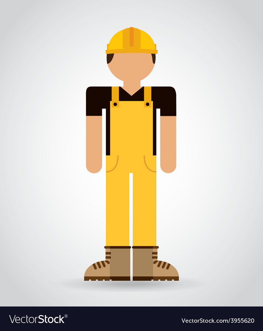 Builder man vector | Price: 1 Credit (USD $1)