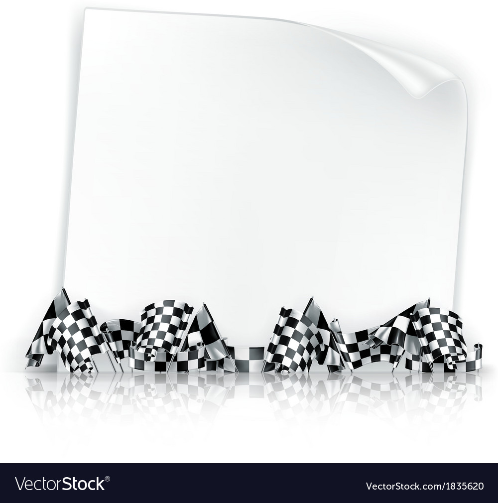 Checkered flags vector | Price: 1 Credit (USD $1)