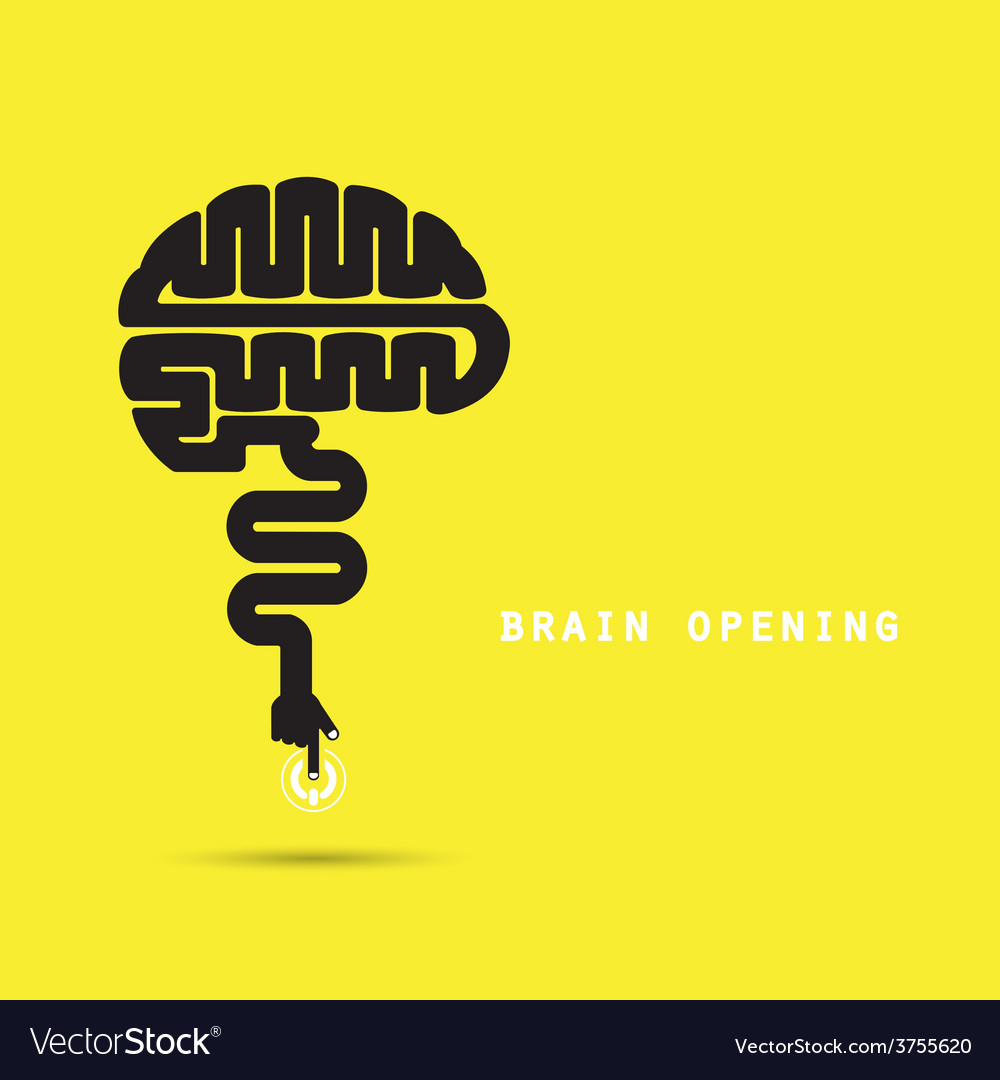 Creative brain concept vector | Price: 1 Credit (USD $1)