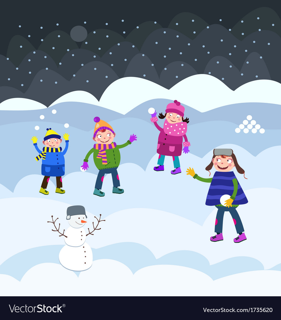 Fun on snow vector | Price: 1 Credit (USD $1)