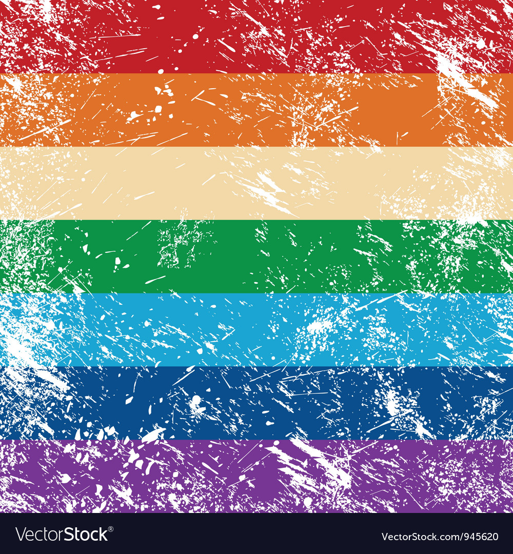 Gay rights flag vector | Price: 1 Credit (USD $1)