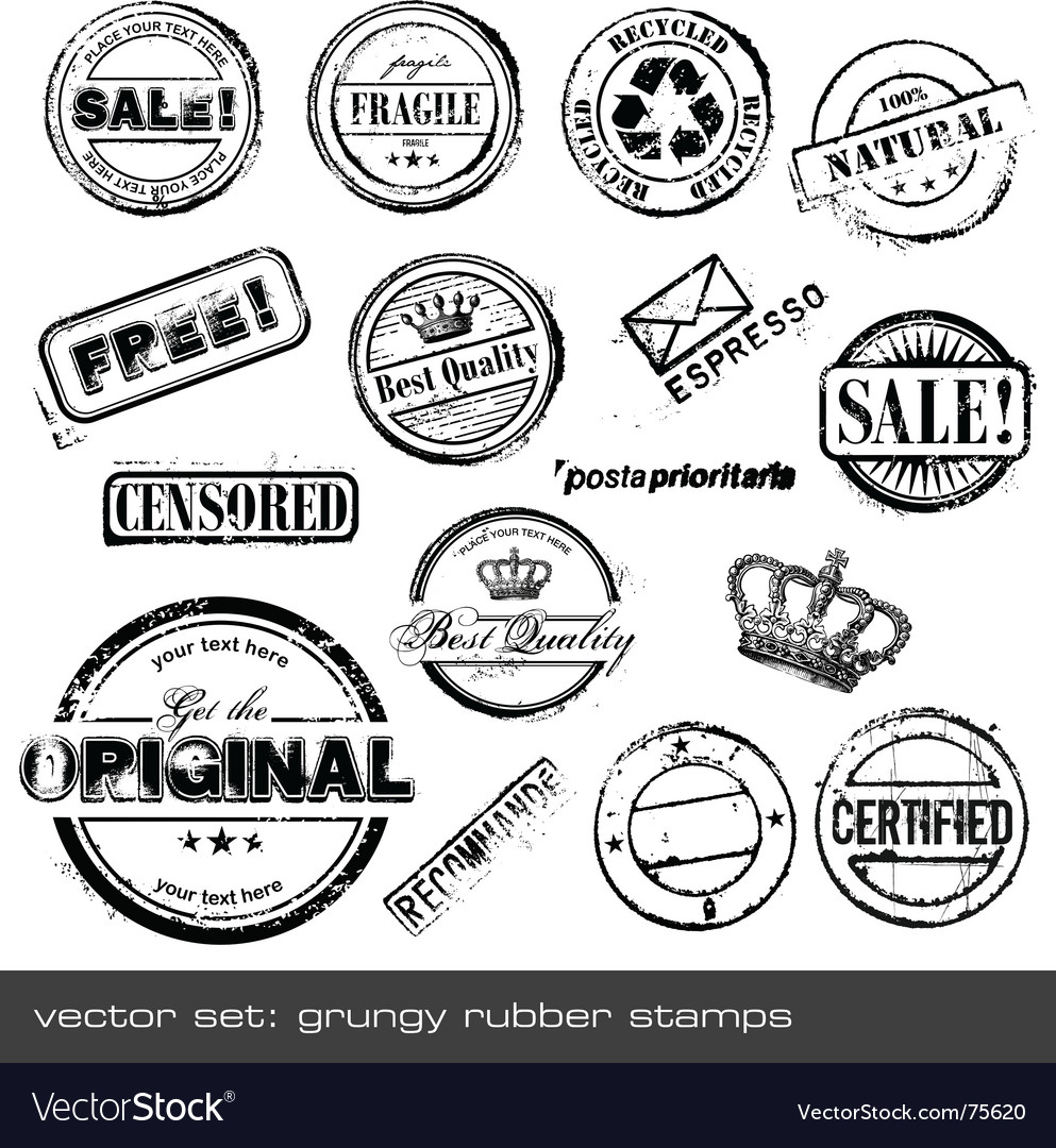 Grunge rubber stamps vector