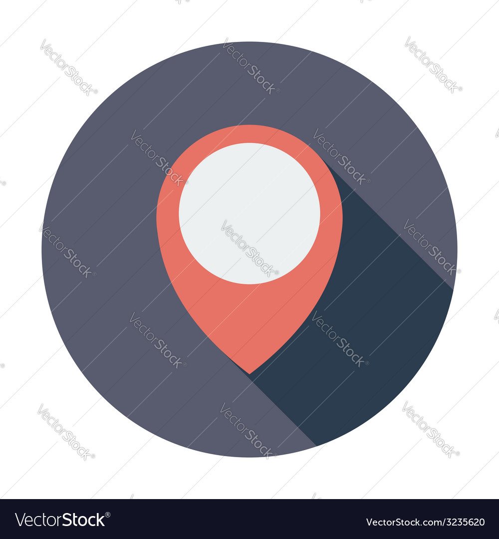 Map pin single icon vector | Price: 1 Credit (USD $1)