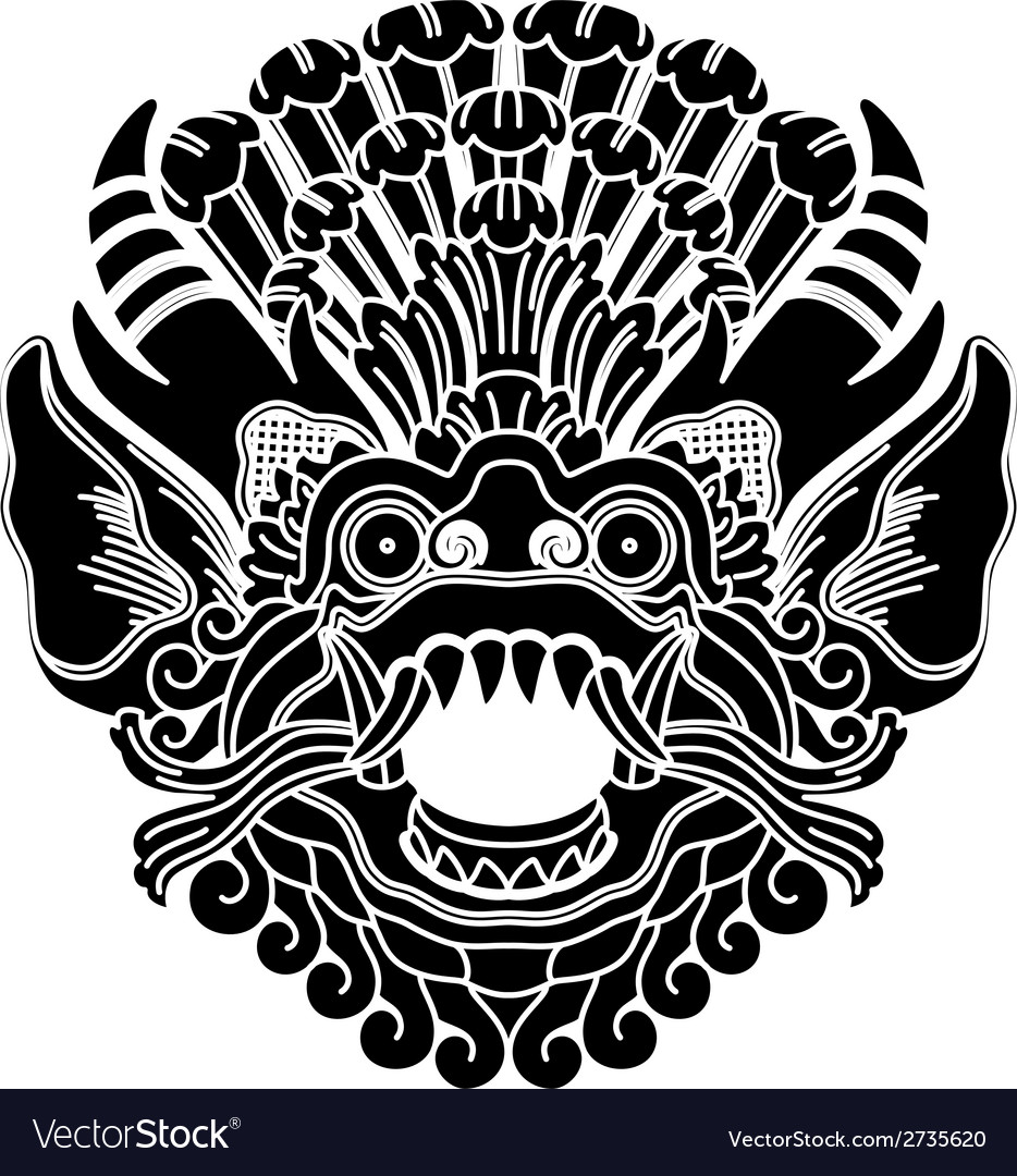 Mythological ethnic gods head vector | Price: 1 Credit (USD $1)